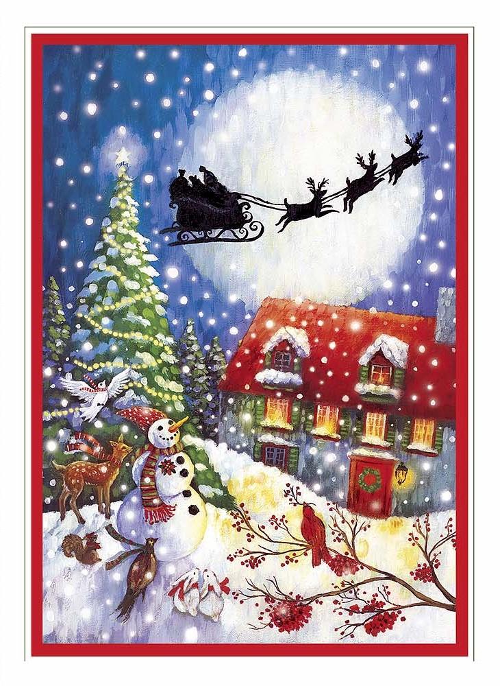 Carte Image Noel.Cartes De Noel Sans Texte A L Allure Traditionnelle Avec